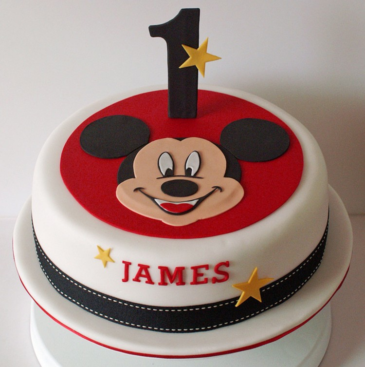Homemade Mickey Birthday Cake Picture in Birthday Cake