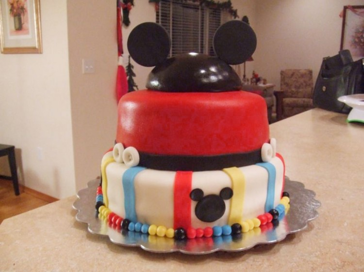 Homemade Mickey Mouse Birthday Cakes Ideas Picture in Birthday Cake