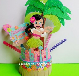 1024x1106px Hula Hawaiian Birthday Cake Topper Picture in Birthday Cake