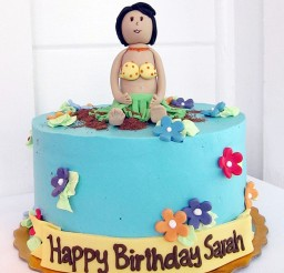 1024x1365px Hula Birthday Cake Topper Picture in Birthday Cake