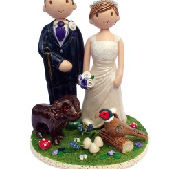 1024x1326px Hunting Themed Wedding Cake Topper Picture in Wedding Cake