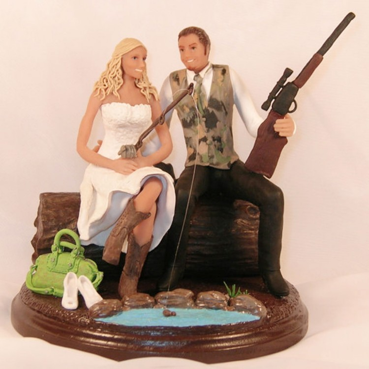 Hunting Wedding Cake Toppers Cheap Picture in Wedding Cake