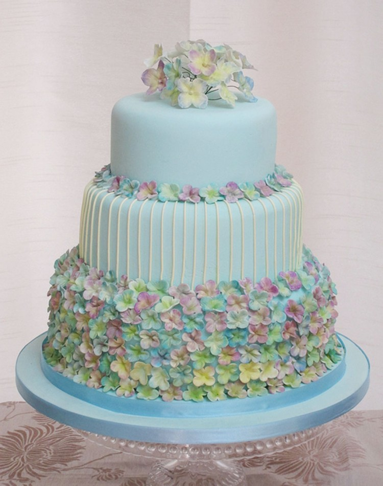 Hydrangea Wedding Cake Flowers Picture in Wedding Cake