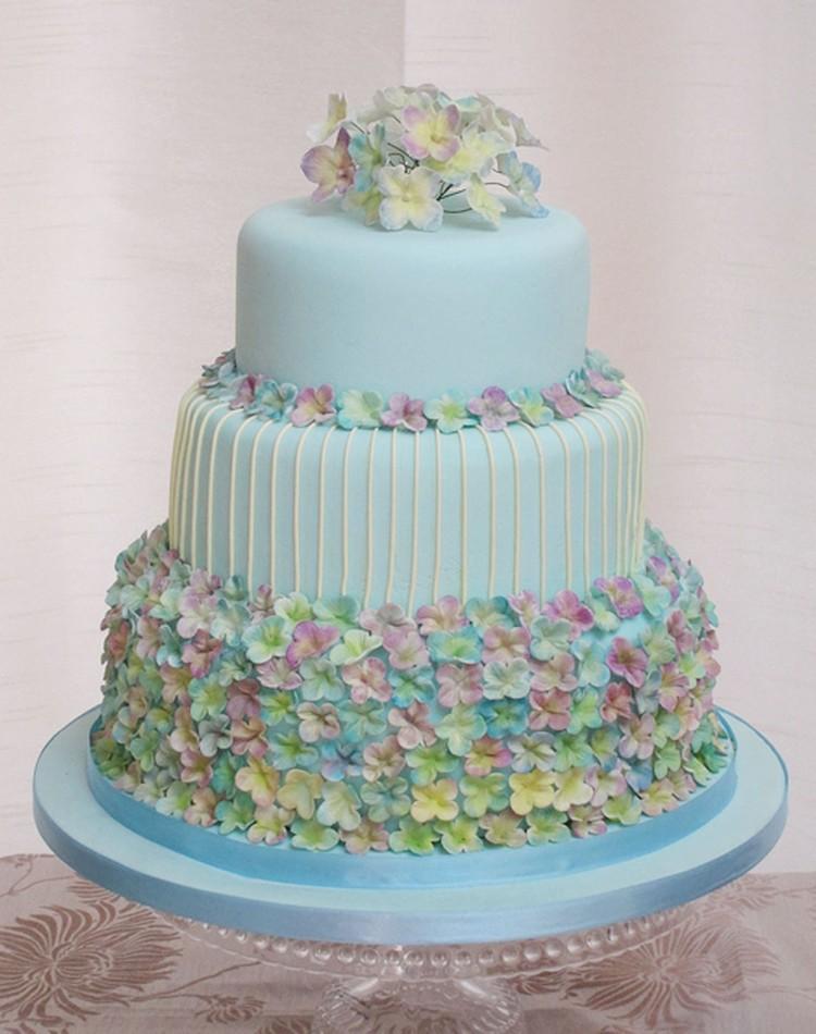 Hydrangea Wedding Cake Flowers Picture in Wedding Cake
