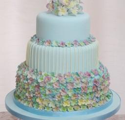 1024x1298px Hydrangea Wedding Cake Ideas Picture in Wedding Cake