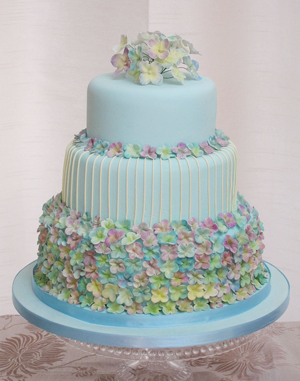 Hydrangea Wedding Cake Ideas Wedding Cake