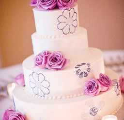 1024x1506px Lavender Frosted Wedding Cake Picture in Wedding Cake