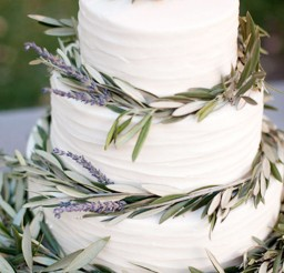 1024x1536px Lavender Leaves Wedding Cake Picture in Wedding Cake