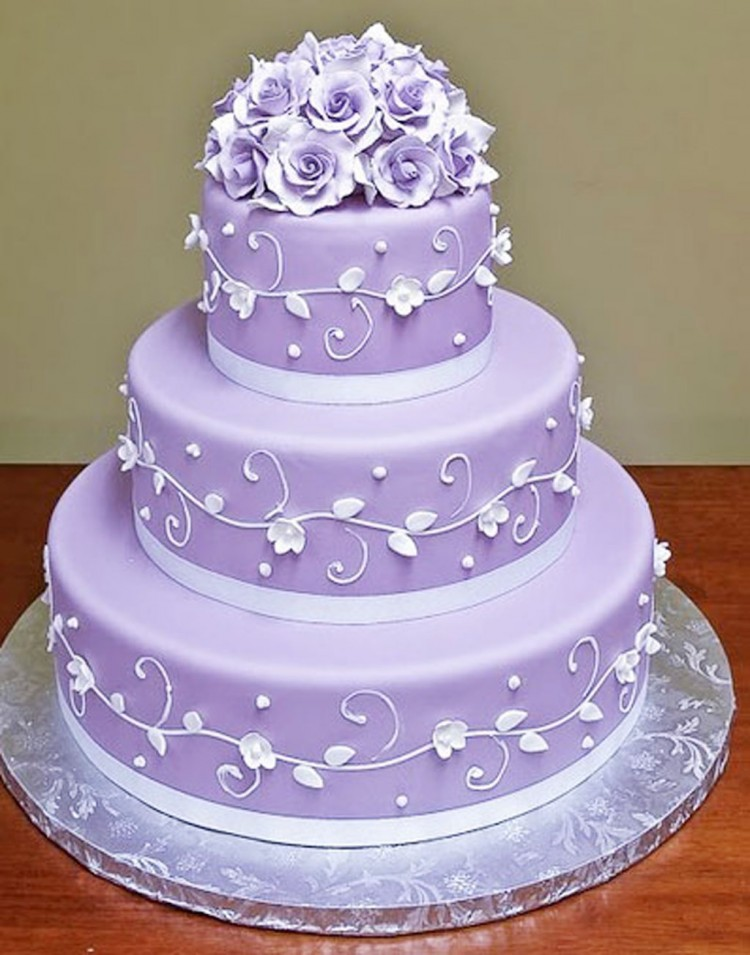 Lavender Wedding Cakes Picture in Wedding Cake