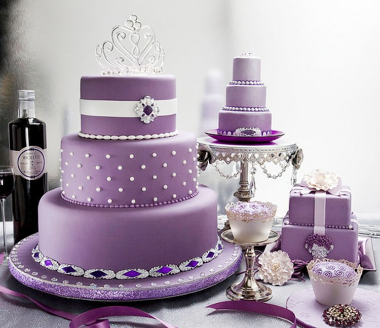 Lavender Wedding Cakes Idea Picture in Wedding Cake