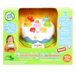 1024x1024px Leapfrog Counting Candles Birthday Cake Picture in Birthday Cake