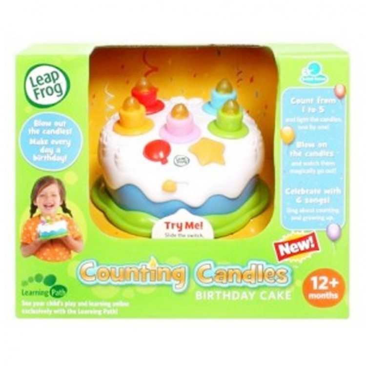 Leapfrog Counting Candles Birthday Cake Picture in Birthday Cake