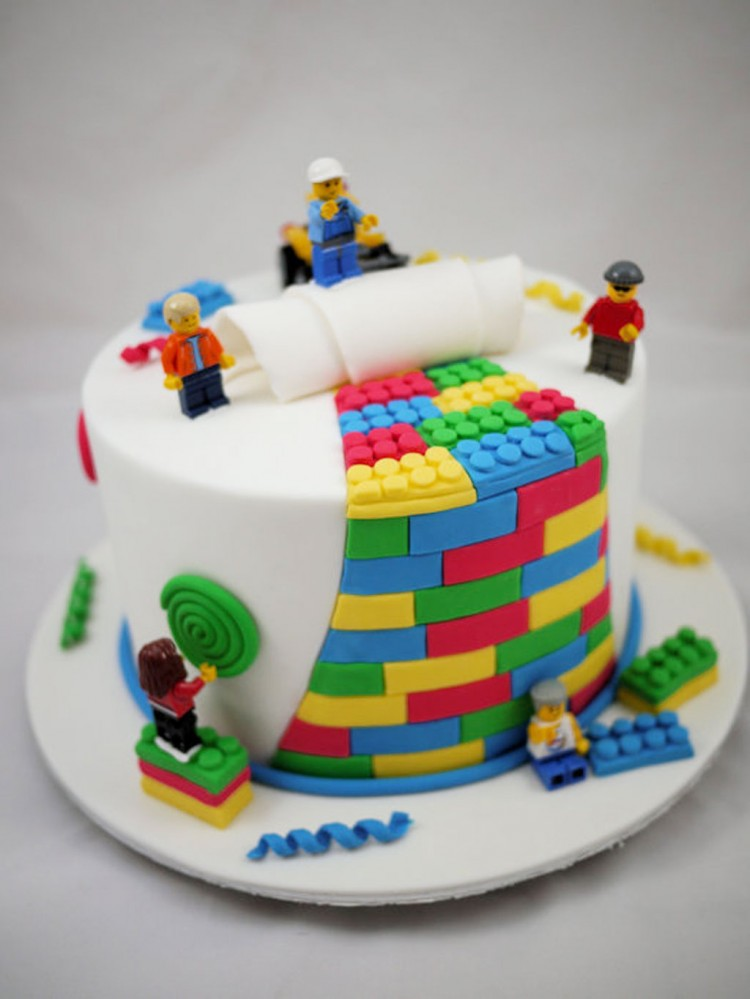 Lego Birthday Cake Decorating Picture in Birthday Cake