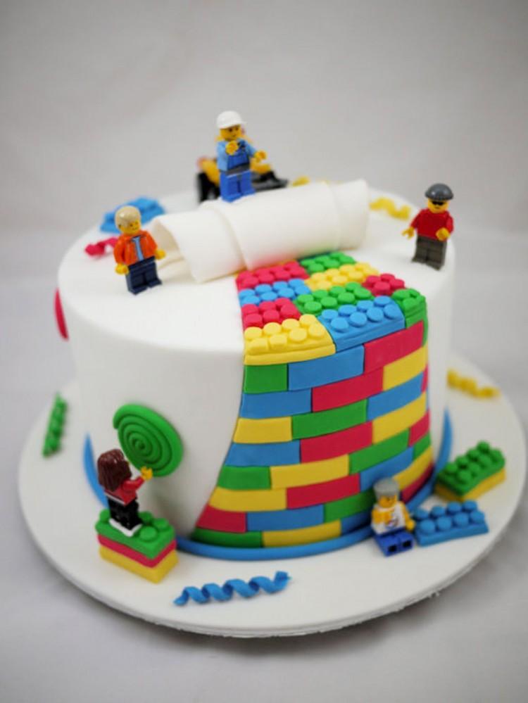 Lego Birthday Cake Decorating Picture in Birthday Cake