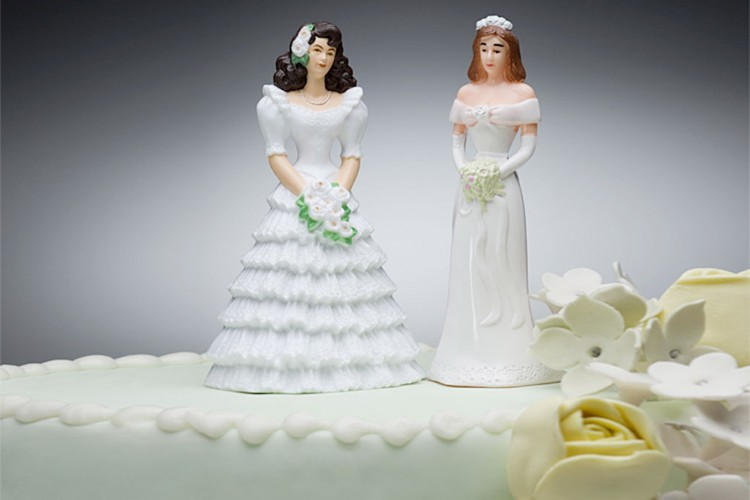 Lesbian Wedding Cake Ideas Picture in Wedding Cake