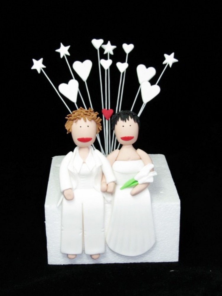 Lesbian Wedding Cake Toppers Picture in Wedding Cake