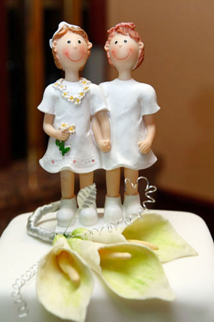 Lesbian Weddings Cakes Picture in Wedding Cake