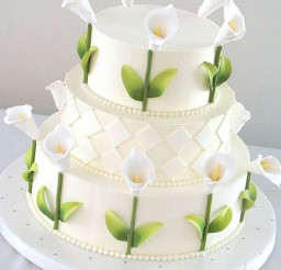 1024x1243px Lily Wedding Cake Picture in Wedding Cake