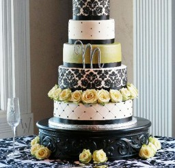 1024x1365px Make Damask Wedding Cake Picture in Wedding Cake