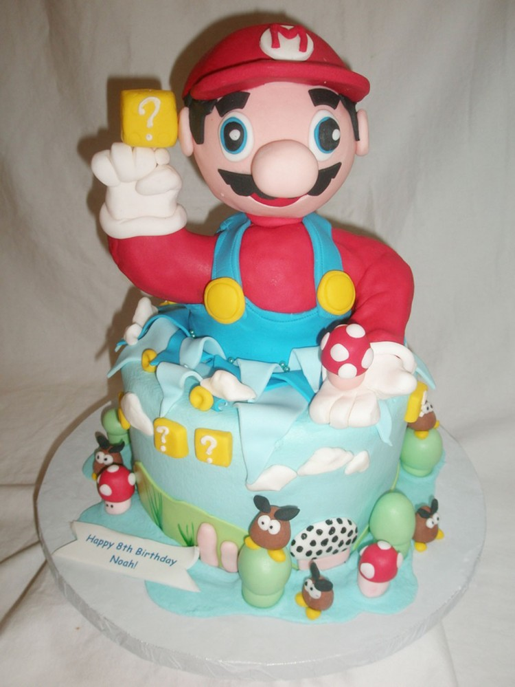 Mario Bros Birthday Cakes Ideas Picture in Birthday Cake