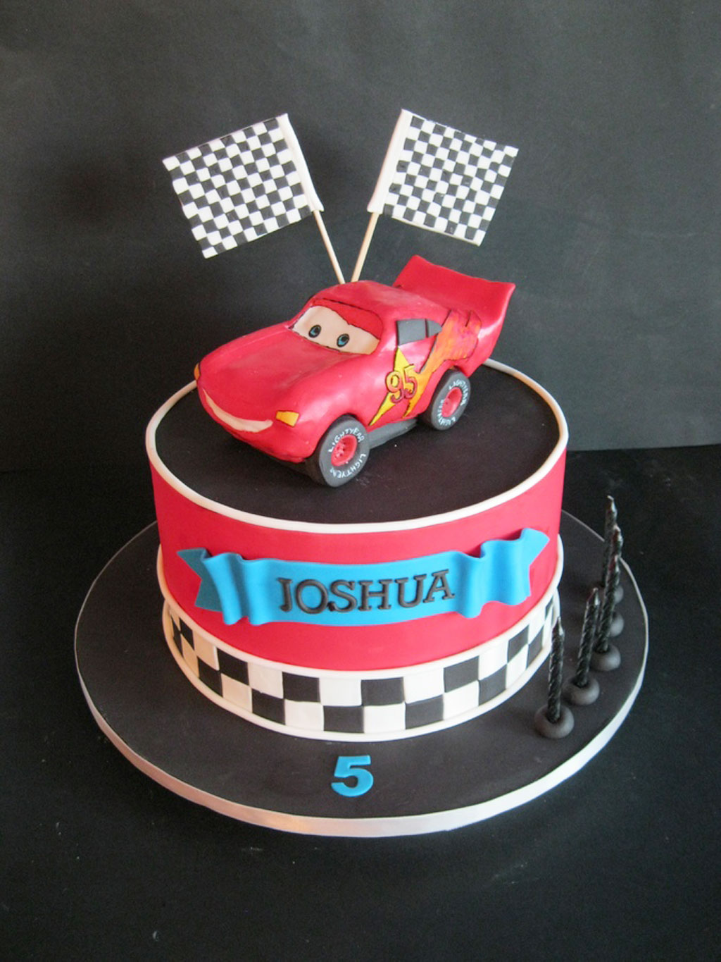 Lightning Mcqueen Car Cake Design Dmost for