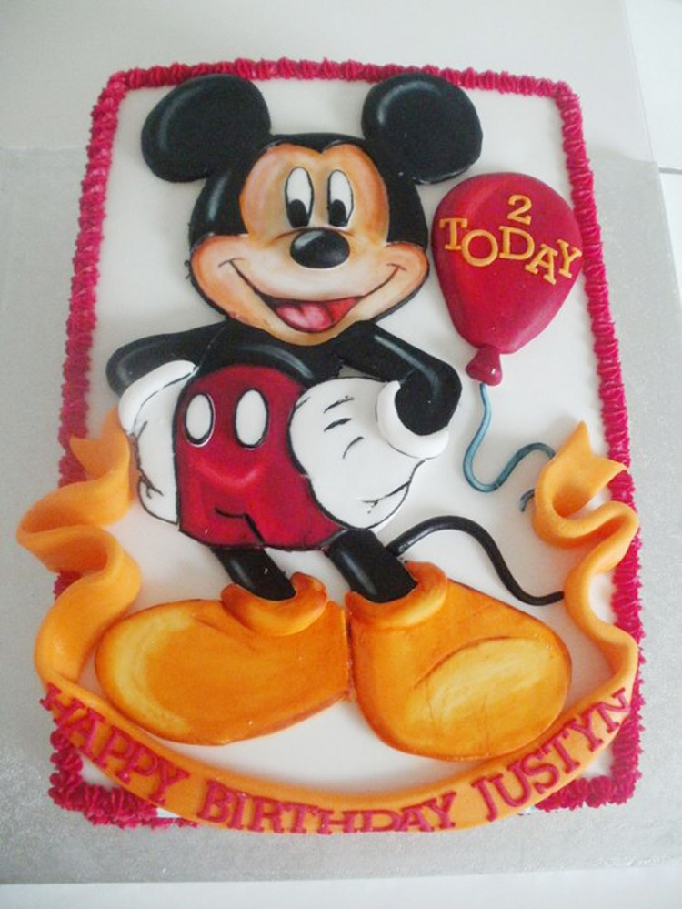 Mickey Mouse Birthday Party Ideas Picture in Birthday Cake