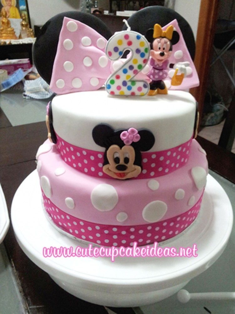 Minnie Mouse Birthday Cupcake Ideas Picture in Birthday Cake