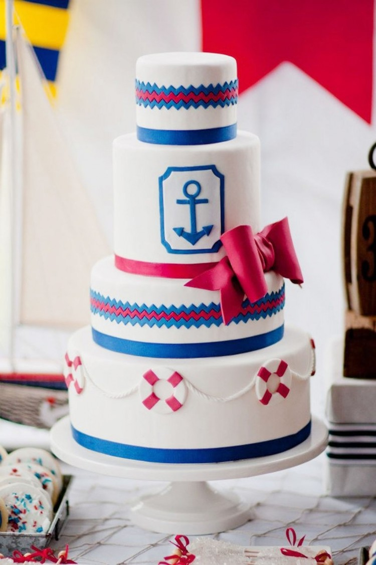Nautical Wedding Cake Decorations Wedding Cake