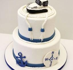 1024x1337px Nautical Wedding Cake Ideas Picture in Wedding Cake