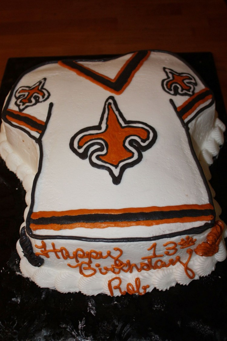 New Orleans Saints Birthday Cake Picture in Birthday Cake