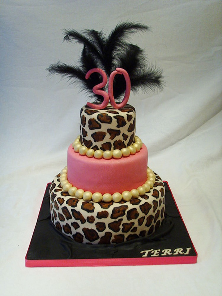 Novelty 30th Birthday Cakes For Women Picture in Birthday Cake