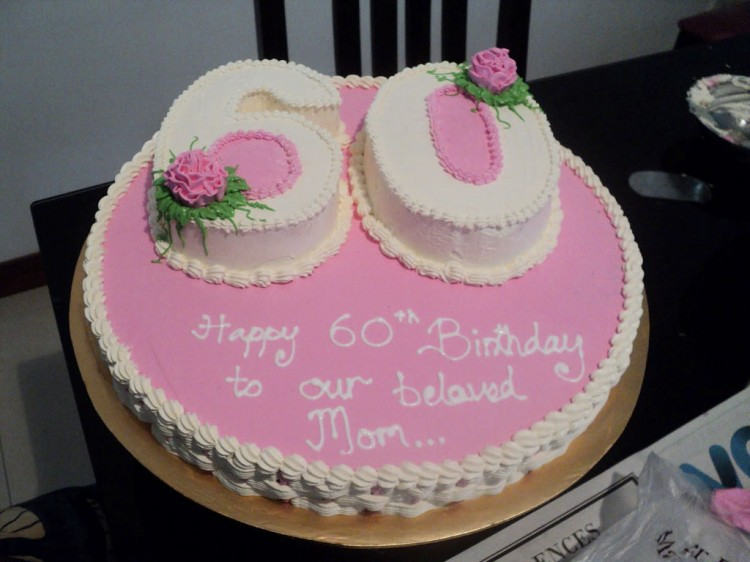 Pink 60th Birthday Cake Ideas Picture in Birthday Cake