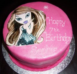 1024x768px Pink Bratz Birthday Cake Picture in Birthday Cake