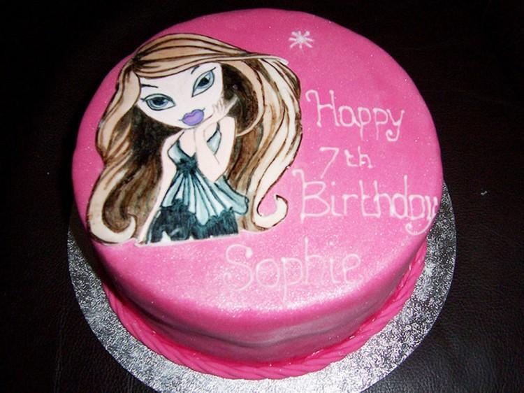 Pink Bratz Birthday Cake Picture in Birthday Cake