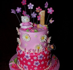 1024x1365px Pink Hello Kitty 1st Birthday Cake Picture in Birthday Cake