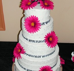 1024x1611px Pink And Zebra Print Wedding Cakes Picture in Wedding Cake