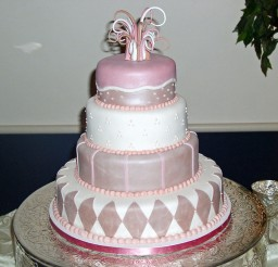 1024x921px Pink Whimsical Richmond VA Wedding Cake Design Picture in Wedding Cake