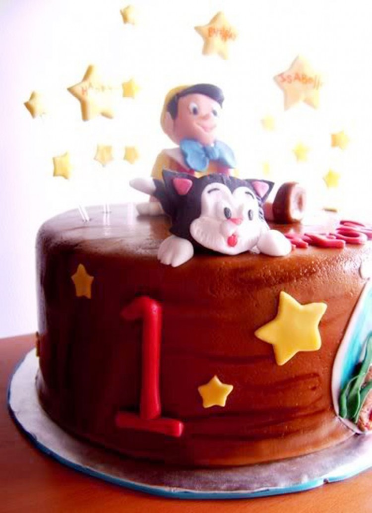 Pinocio Birthday Cake Toppers Picture in Birthday Cake