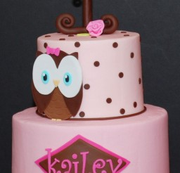 1024x1394px Polcadot Owl Birthday Cake Picture in Birthday Cake