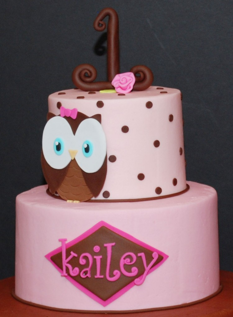 Polcadot Owl Birthday Cake Picture in Birthday Cake
