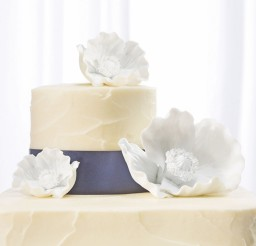 1024x1229px Porcelain Flowers Wedding Cake Topper Picture in Wedding Cake