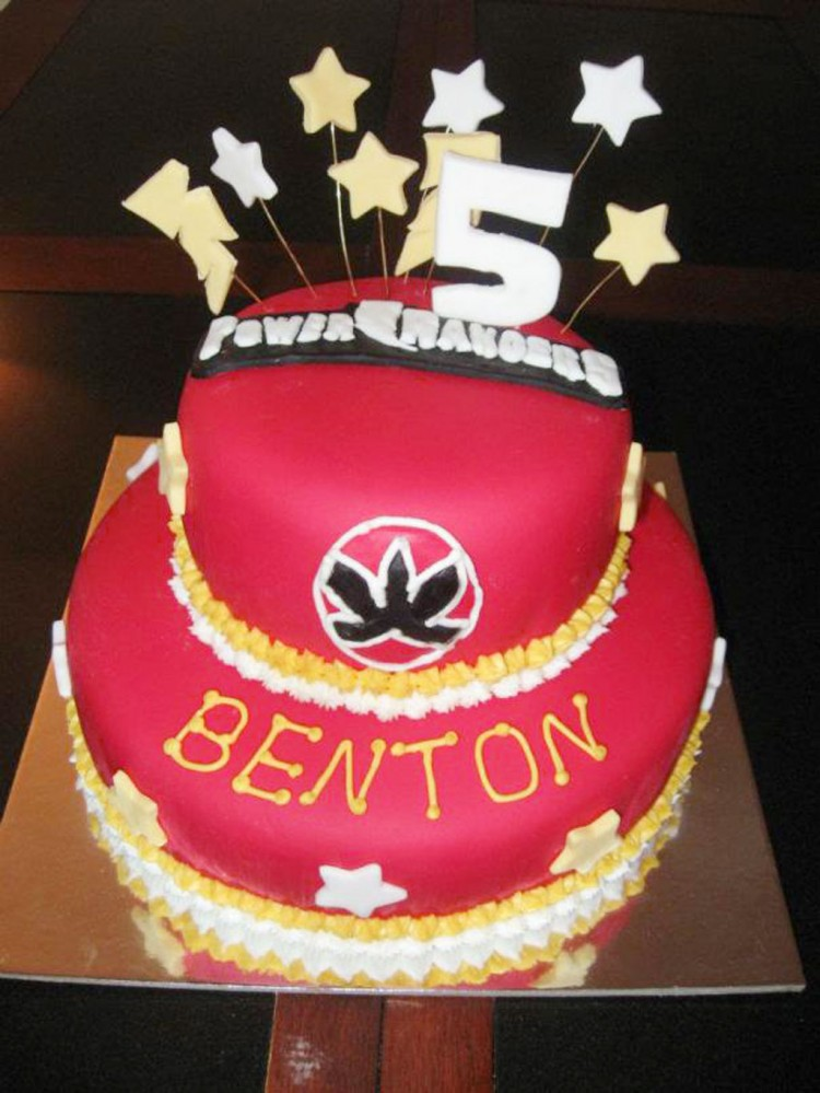 Power Rangers Birthday Cake Picture in Birthday Cake