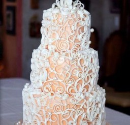 1024x1405px Pretty Write Ribbons Wedding Cakes Picture in Wedding Cake