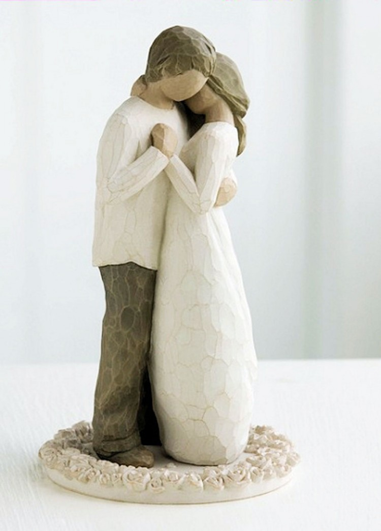 Promise Cake Topper Willow Tree Wedding Collection Picture in Wedding Cake
