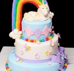 1024x1283px Rainbow Unicorn Cake For Girl Birthday Picture in Birthday Cake