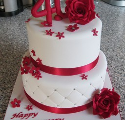 1024x1295px Red 40th Wedding Cakes Toppers Picture in Wedding Cake