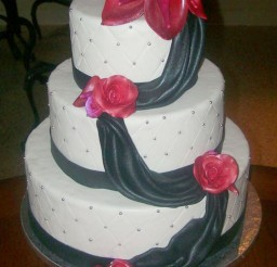 1024x1278px Red Calla Lily Wedding  Cake 1 Picture in Wedding Cake