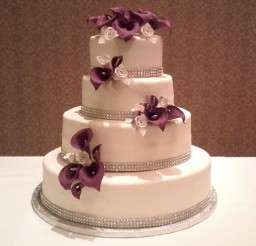 1024x920px Red Calla Lily Wedding Cake Design 6 Picture in Wedding Cake