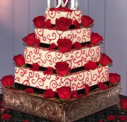 1024x1280px Red Wedding Cakes Theme Picture in Wedding Cake