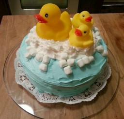 1024x1365px Rubber Ducky Birthday Cake Design Picture in Birthday Cake